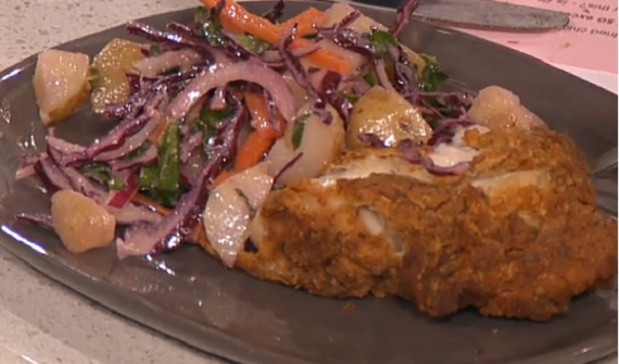 Phil Vickery fried chicken with slaw recipe on This ...