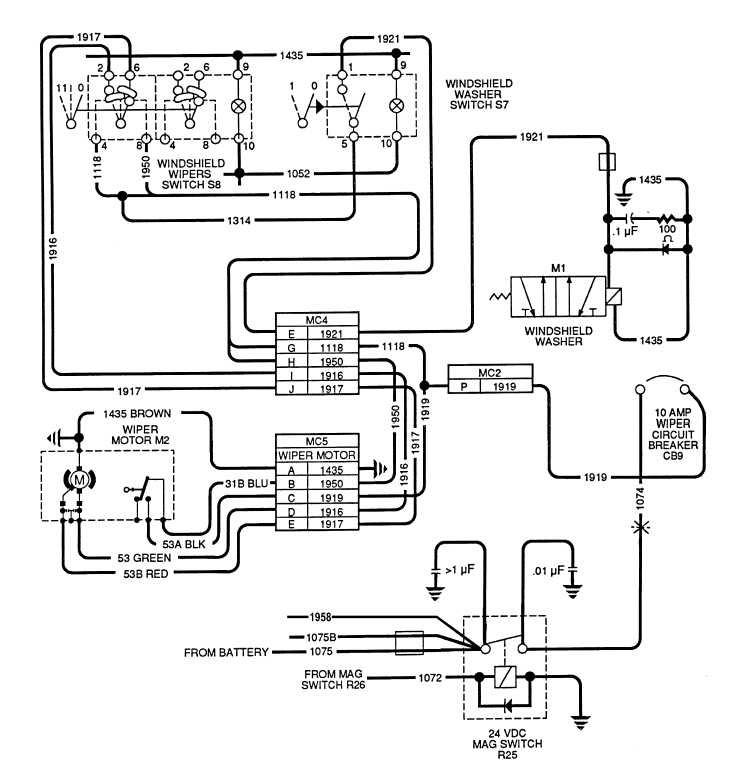 Chevy Windshield Wiper Wiring Diagram