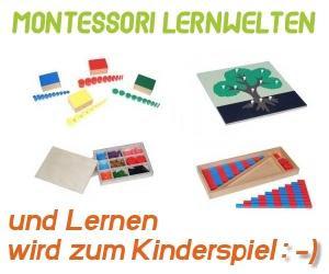 Mit Montessori-Material wird lernen zum Kinderspiel. Klicken!
