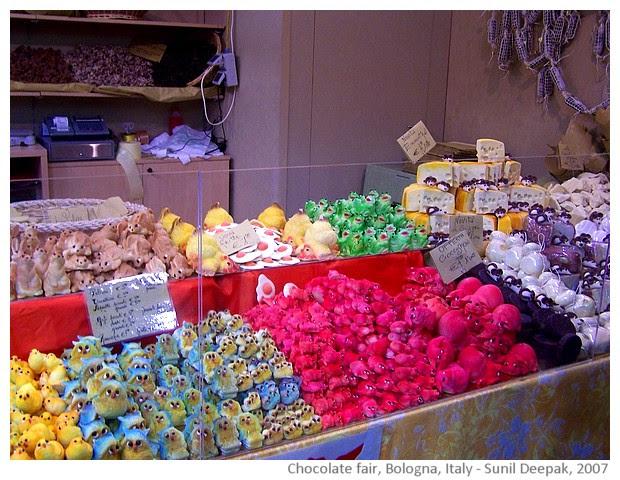 Chocolate fair of Bologna, Italy - images by Sunil Deepak, 2007