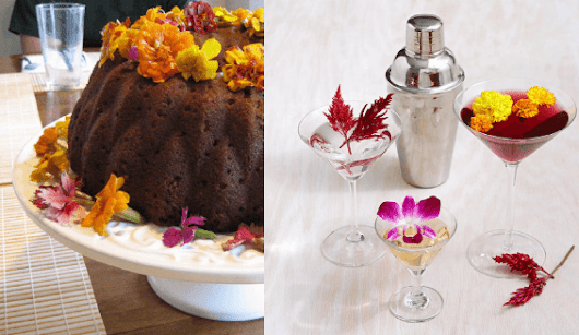Dress Up Dinner And Drinks With Edible Flowers | Avas Flowers