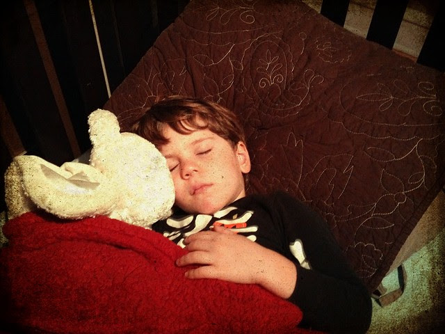 sleeping 4 yr old child