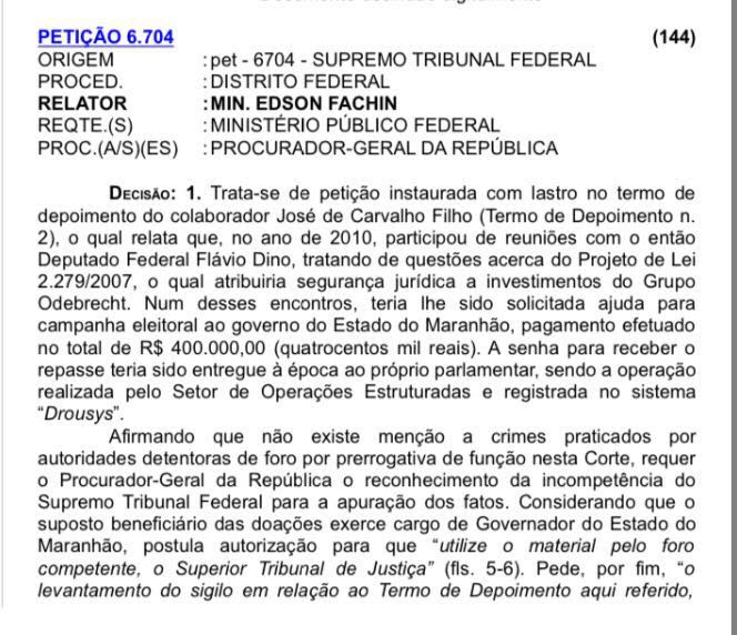 peticao-investigacao-contra-flavio-dino-rodrigo-janot-org-stf-stj-lava-jato