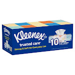 Kleenex Trusted Care Facial Tissue, 2-Ply, 230-count, 10-pack