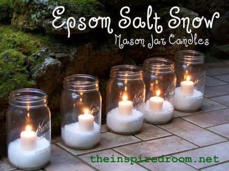 epsom salt mason jar candles
