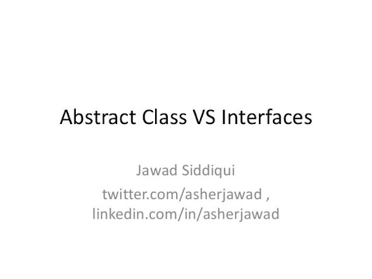 Interfaces vs abstract class Interview Question