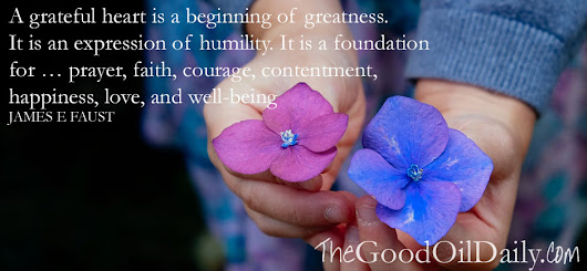 Humility and a Grateful Heart : Feel Good Friday - The Good Oil Daily