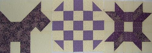 purple sampler blocks