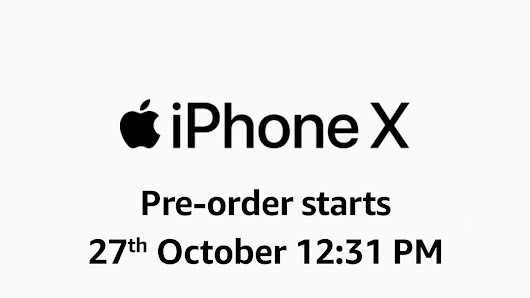 Pee orders of IPhone X started from 27 October on Amazon
