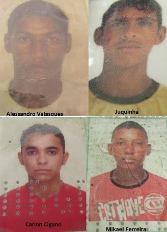 Quatro mortos com idades entre 17 e 25 anos