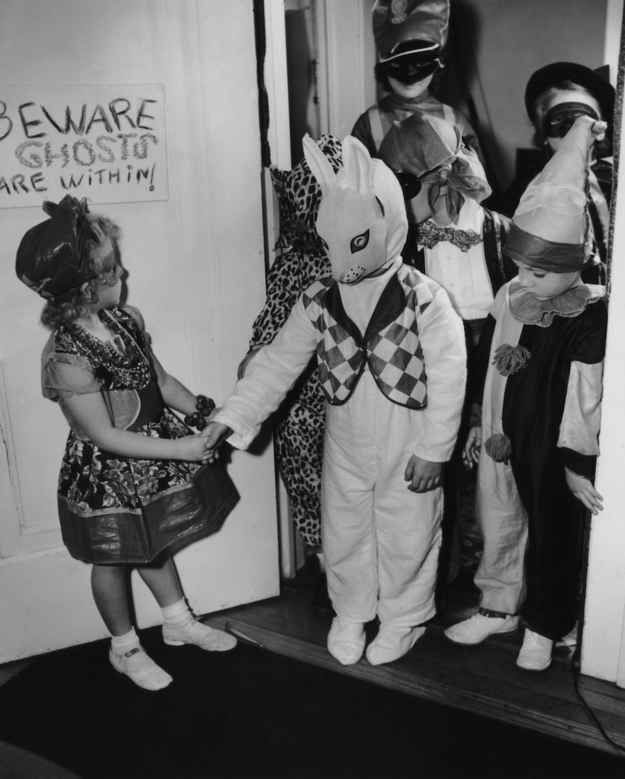 Image result for 1950s halloween kids