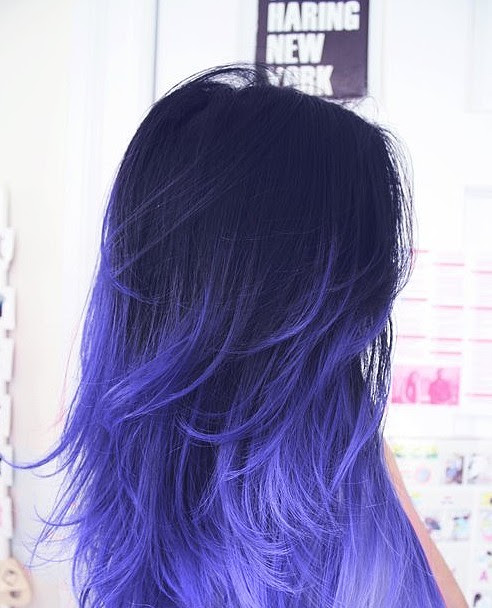 Cool Hairstyle 12: Dark Blue Ombre Hair Tumblr