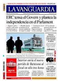 La Vanguardia fa marxa enrera