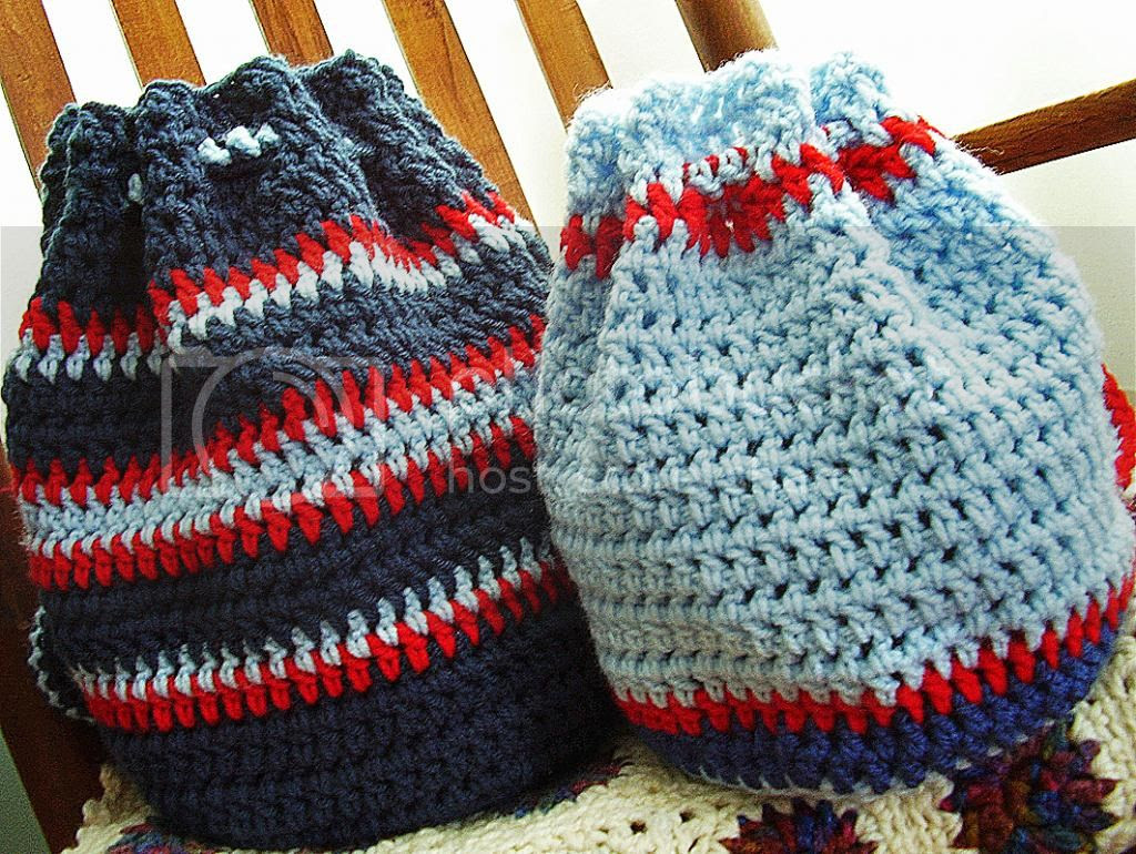 Vanessa\'s Values: Shoe Boxes for Boys: Crocheted Backpack (Free Pattern)