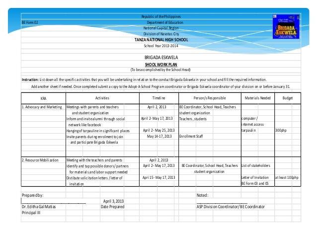 Brigada eskwela 2013 narrative report