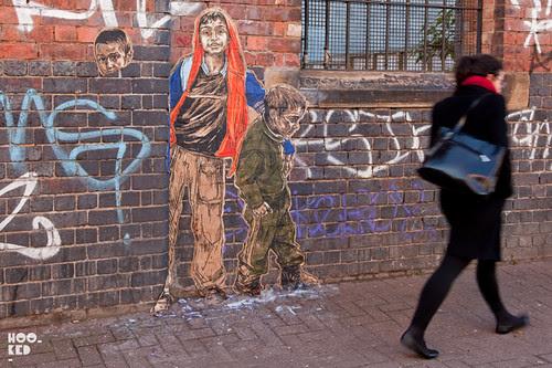 New York based street artist Swoon's London Street Art
