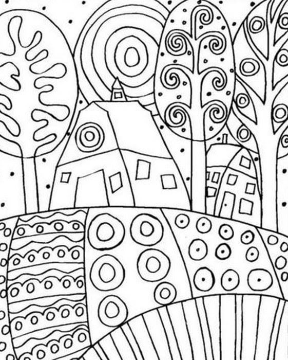 Download Coloring pages for adults: Gustav Klimt, printable, free to download, JPG, PDF