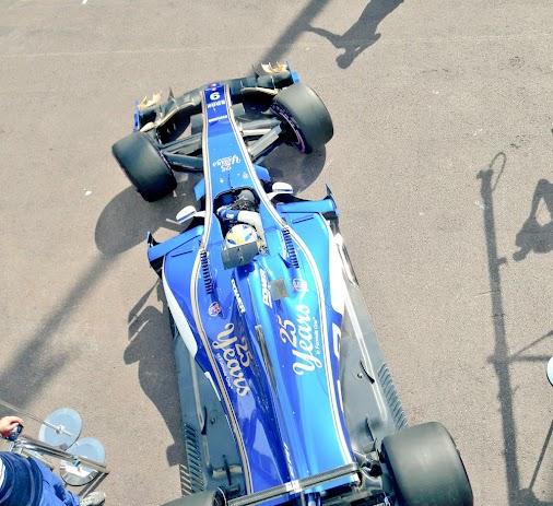 Off we go... FP1 and we're rollin'...  #SauberF1Team #F1 #MonacoGP