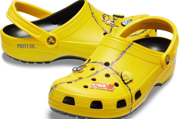 3444e6326807 Where Can You Buy The Post Malone X Crocs Barbed Wire Clogs  The Quirky  Shoes Are Sure To Sell Out