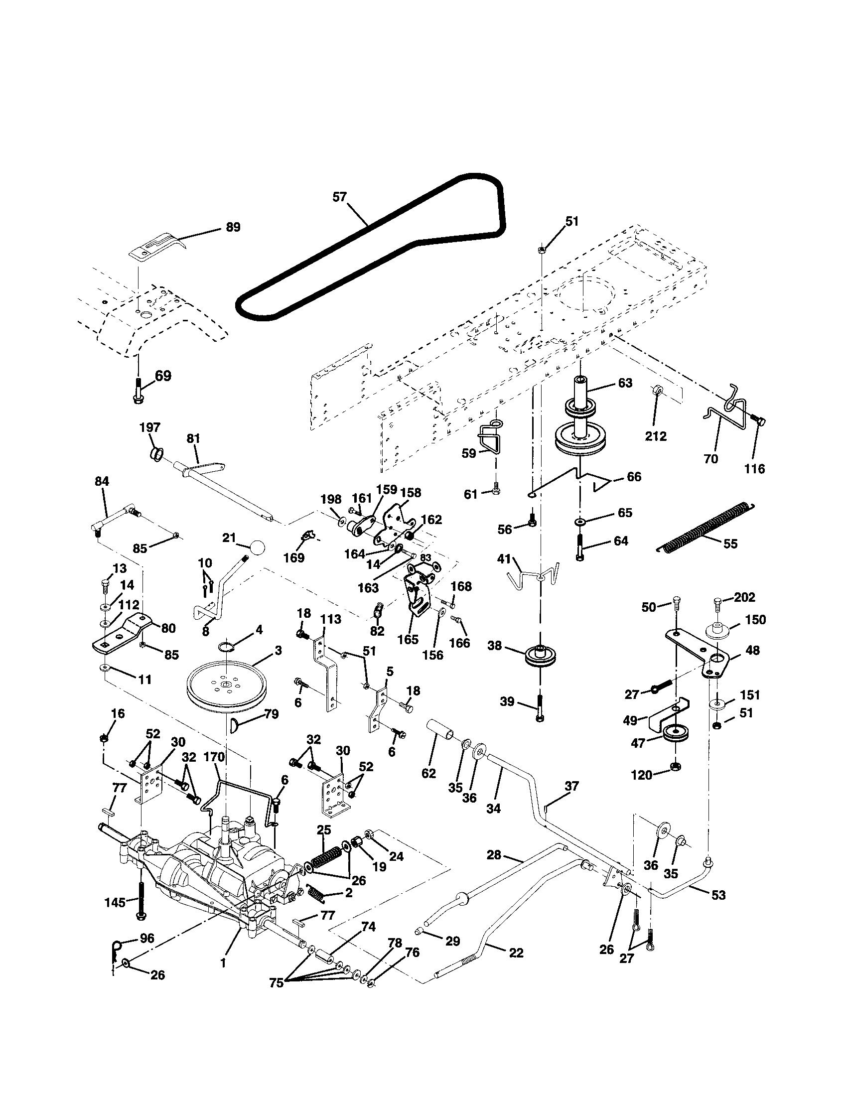 31 Poulan Pro Drive Belt Diagram