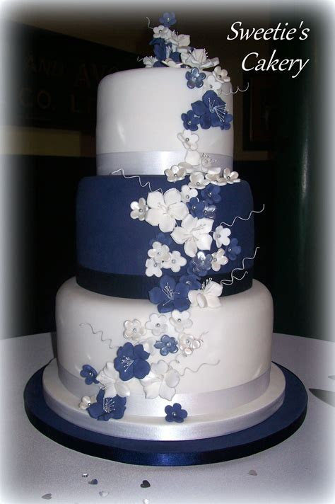 http://facebook.com/SweetiesCakery Navy blue, white and
