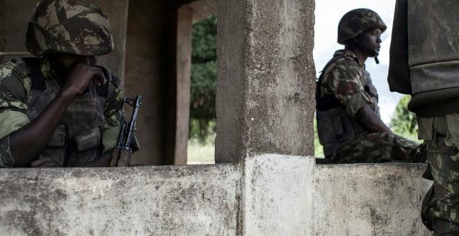 Soldados del Ejército de Mozambique./AFP
