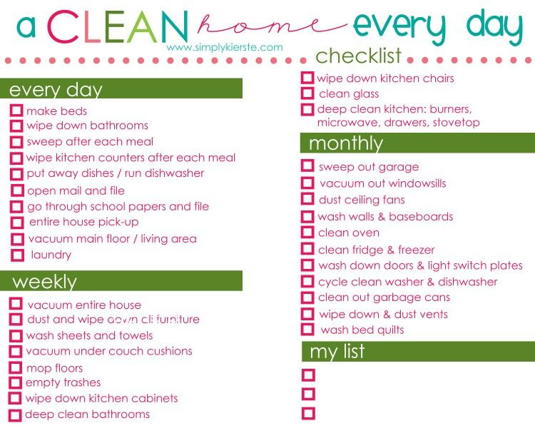 1000+ images about Cleaning Schedules on Pinterest | Weekly ...