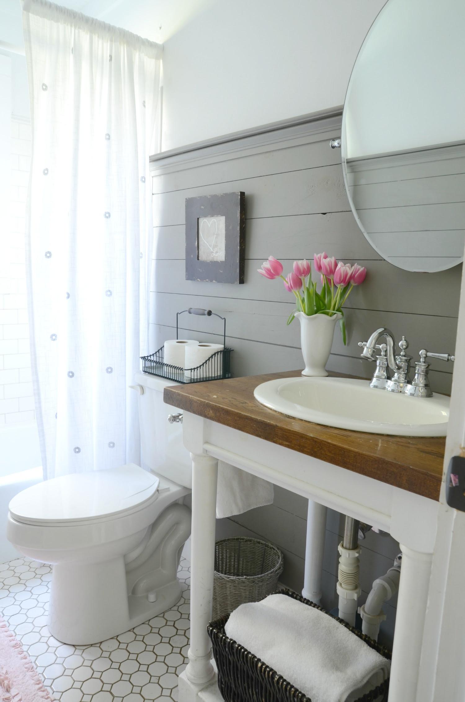 Farmhouse Bathroom Refresh {Adoption Update} - Beneath My ...