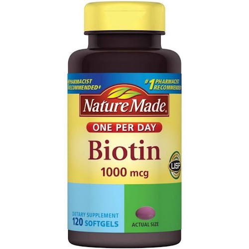 Nature Made Biotin, 1000 mcg, Softgels - 120 softgels