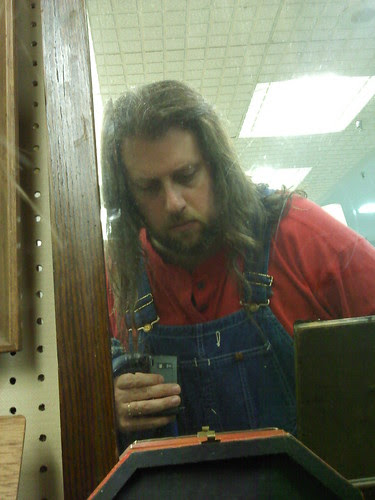 Antiquing: Man in the mirror