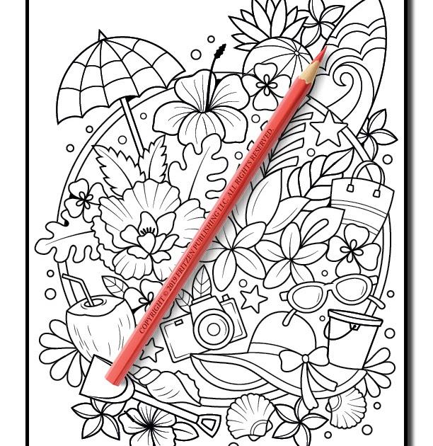 33 Jade Summer Coloring Books