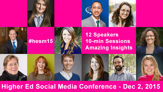 Get ready for 2016 with the #HigherEd Social Media Online Conference #hesm | collegewebeditor.com
