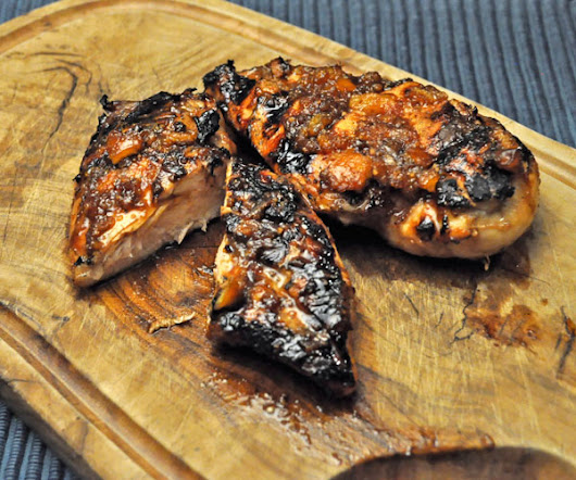 Grilled Orange Chicken Breasts; a hair cut - Thyme for Cooking, Blog