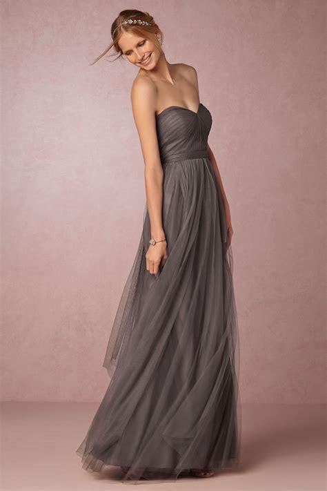 strapless dark grey bridesmaids dress   Annabelle Dress by
