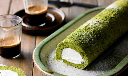 Adam Liaw's Green Tea Roll Cake - InDaily