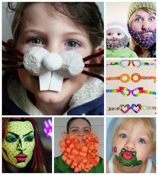 15 Funny Face Ideas #RedNoseDay - Red Ted Art's Blog