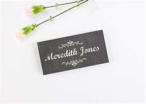 Chalkboard Folded Wedding Place Cards   norma&dorothy