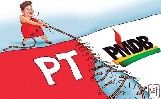 Dilma tenta reduzir poder de PT e PMDB