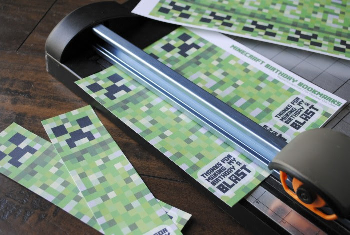 Printable Minecraft Birthday Bookmarks by Pepper Scraps