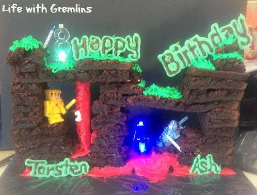 Terraria Cake Tutorial: Birthday Party Bonus Ideas - Life with Gremlins