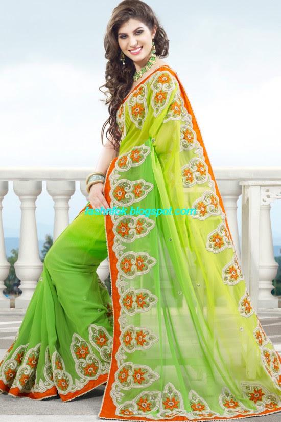 Indian-Brides-Bridal-Wedding-Fancy-Embroidered-Saree-Design-New-Fashion-Hot-Sari-Dress-19