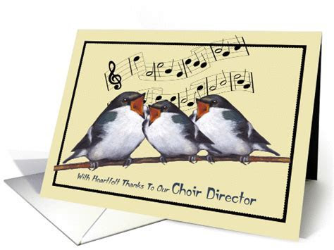 Thanks To Our Choir Director: Birds Singing, Musical Notes