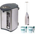 Zojirushi CD-WHC40XH Micom Water Boiler and Warmer 135 oz, Stainless Gray Bundle