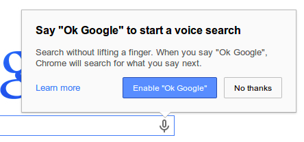 Chrome now has hands-free Google Voice Search