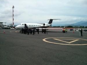 Presidente dominicano ya está en suelo tico. CRH