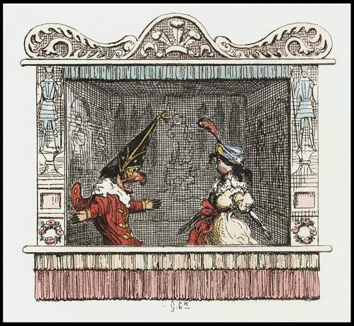 Punch and Judy by George Cruikshank, 1828 u