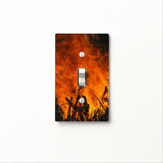 Raging Fire Light Switch Plate
