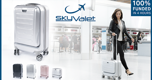 SkyValet | Innovative Smart Luggage with Shark Wheels