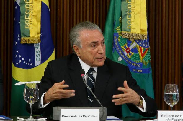 O presidente Michel Temer participa da reunião da Comissão da Reforma da Previdência em Brasília