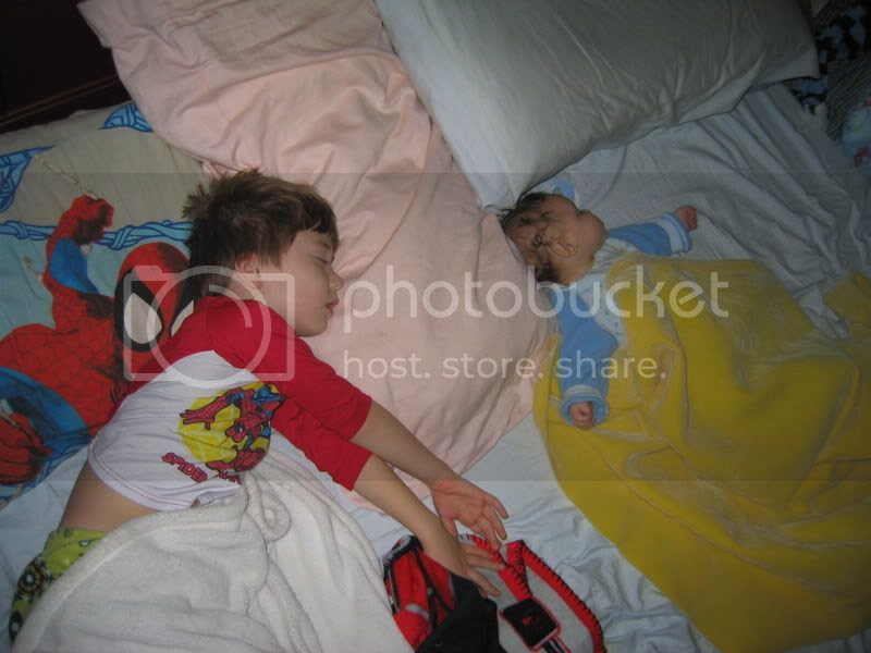 They are so cute...when they're sleeping.